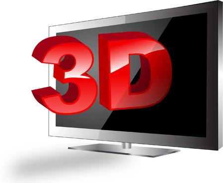 3d television set Vector