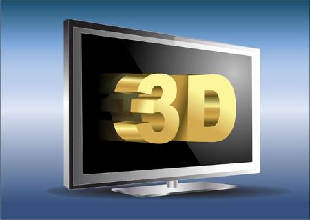 3d tv Vector