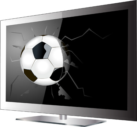 football television Stock Vector - 27469803