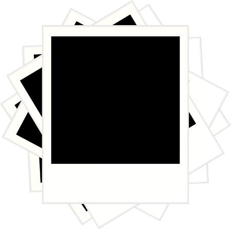 polaroid: polaro�d blanc image remous Illustration