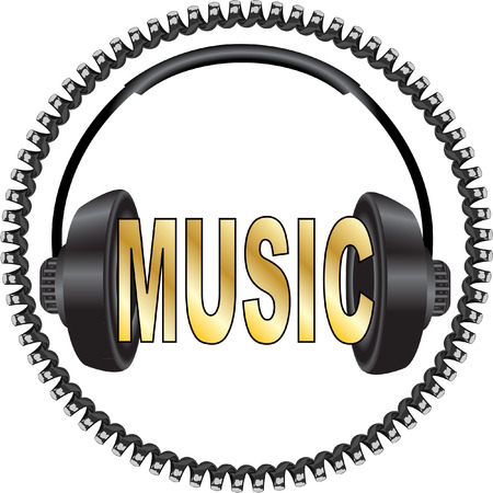 MUSIC WITH HEADPHONES Vector