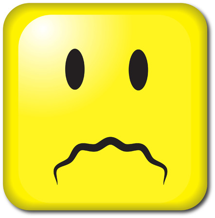 SAD SQUARE FACE Vector