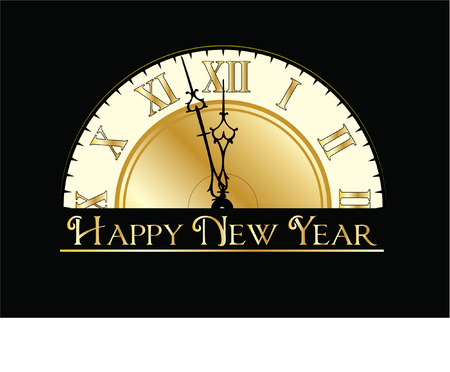 happy new years eve clock Vector