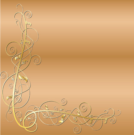 gold scroll Stock Vector - 27417178