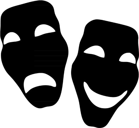 black and white theatrical mask