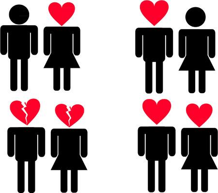 femme amoureuse: HOMME FEMME AMOUR Illustration