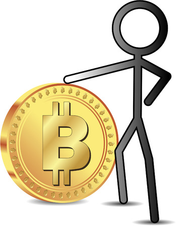 man with bit coin Vector