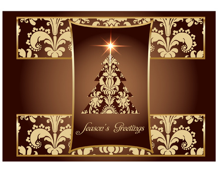 luxury christmas card Vector