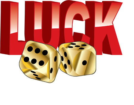 good luck with dice and lettering Vector