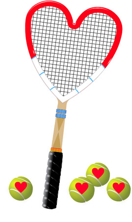 tennis heart Vector