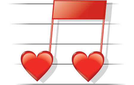 red love music Vector