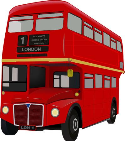 ロンドンのバス  イラスト・ベクター素材