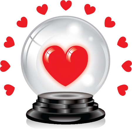 love crystal ball Vector