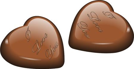 gateau: Love chocolates Illustration