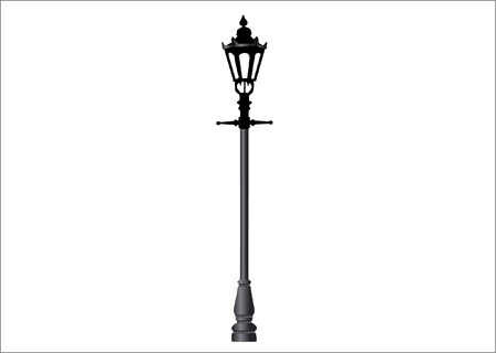 electricity pole: lamp post Illustration