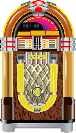 music machine: jukebox Illustration