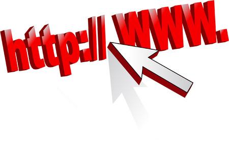 web address: web address Illustration