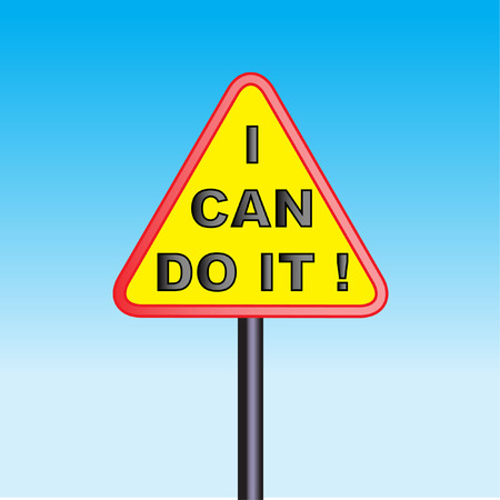 i can do it sign Vector