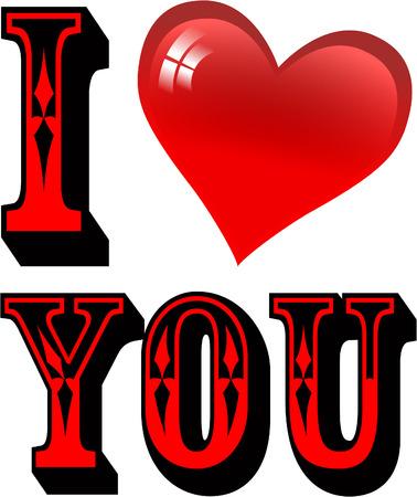 i heart you Vector