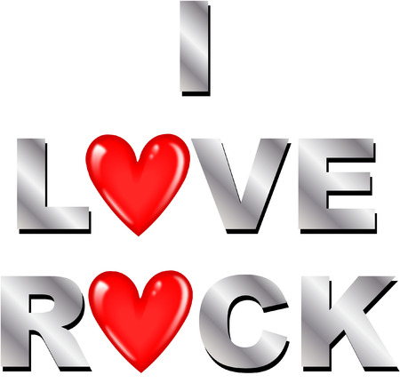 i love to rock Vector