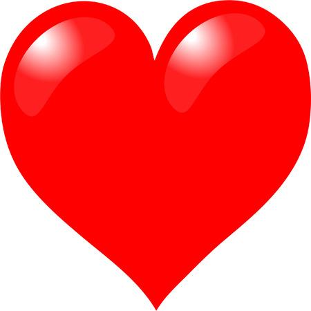 st valentin: red heart Illustration