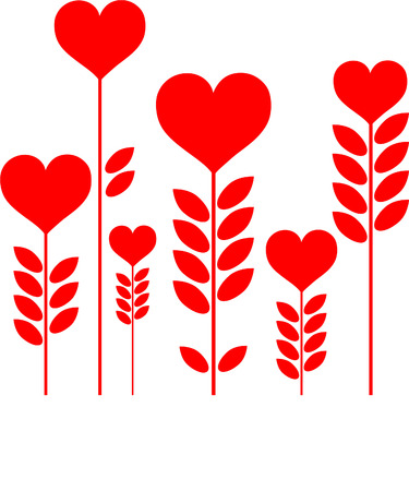 hearts growing Illustration