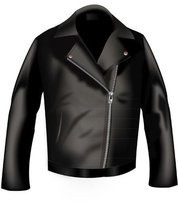 americana: chaqueta de cuero Vectores