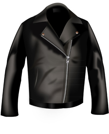 jacket: leather jacket Illustration