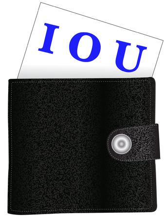 borrowing money: i owe you wallet