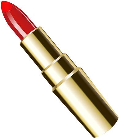gold lipstick Vector
