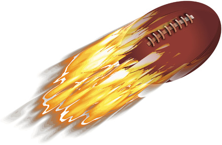 RUGBY BALL ON FIRE Vector