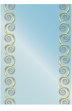 baroque pearl: gold swirl frame Illustration