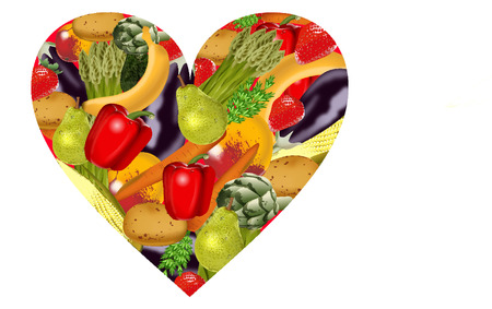 vegatables: healthy heart vegatables Illustration