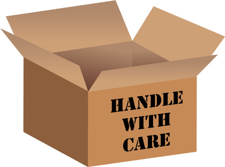 handle with care packaging Vector