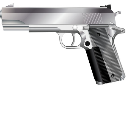 mano pistola: lancia a mano Vettoriali