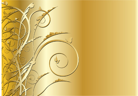 golden swirl background Vector