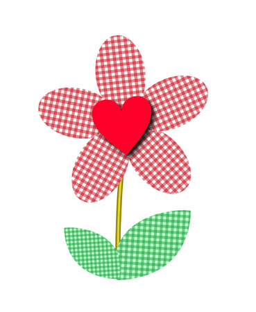GINGHAM FLOWER Vector