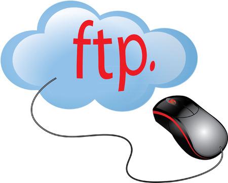 ftp: FTP CLOUD Illustration