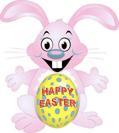 rabit: easter bunny with egg