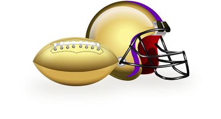 nfl helmet: usa football and helmet Illustration