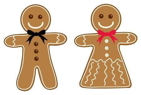 gingerbread men Vector