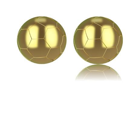 gold football Vector