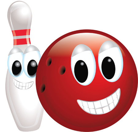 skittles: bowling ball and skittle