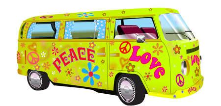 the peace: furgoneta hippy