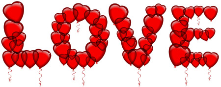 betroth: love balloons valentine
