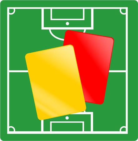 tarjeta amarilla: f�tbol tarjeta roja y amarilla y el tono Vectores
