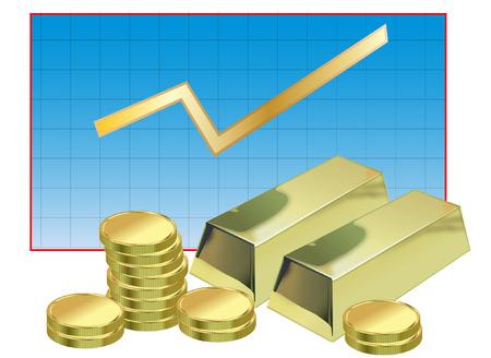 goldbars: finance concept Illustration