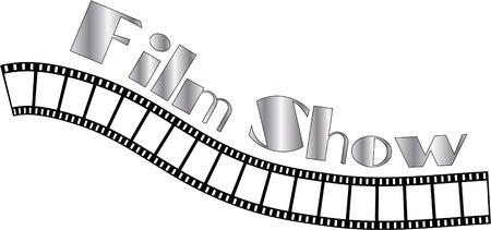unused: film show text on filmstrip