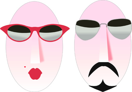 cool man and woman symbols Vector