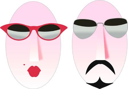 cool man and woman symbols
